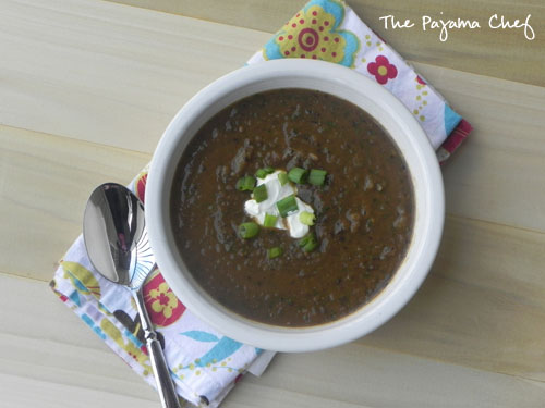 Black Bean-Pumpkin Soup | thepajamachef.com