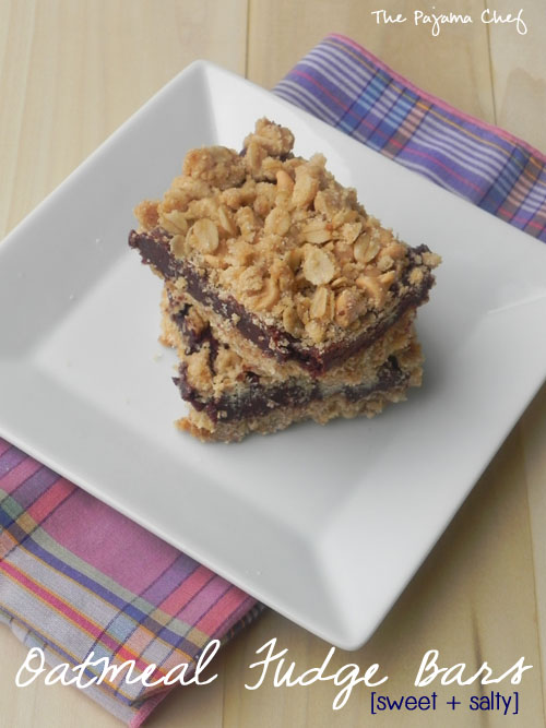 Oatmeal Fudge Bars | thepajamachef.com