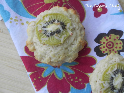 Tropical Kiwi Fruit Muffins | thepajamachef.com