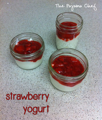 Strawberry Yogurt | thepajamachef.com