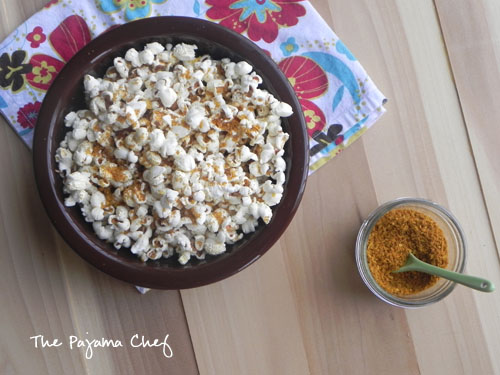Coconut Curry Popcorn | thepajamachef.com