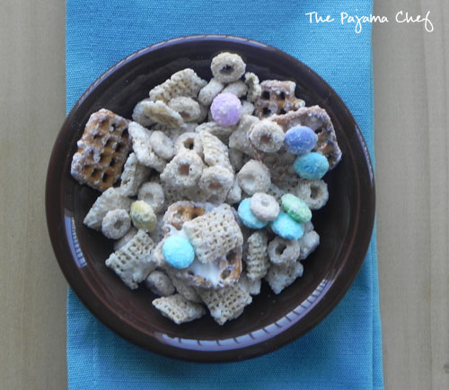 Bunny Bait, or White Chocolate Snack Mix You Can Make All Year| thepajamachef.com