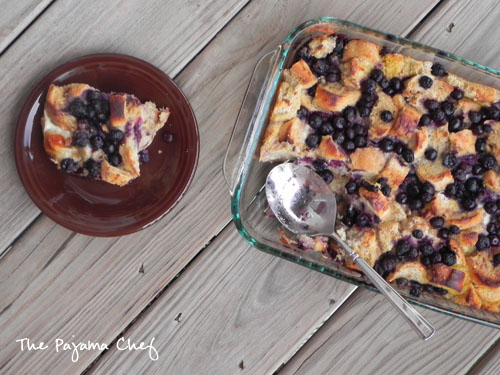 Blueberry Multigrain French Toast Bake | thepajamachef.com
