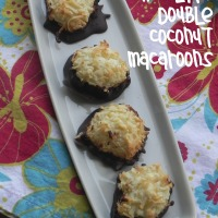 Dark Chocolate Double Coconut Macaroons
