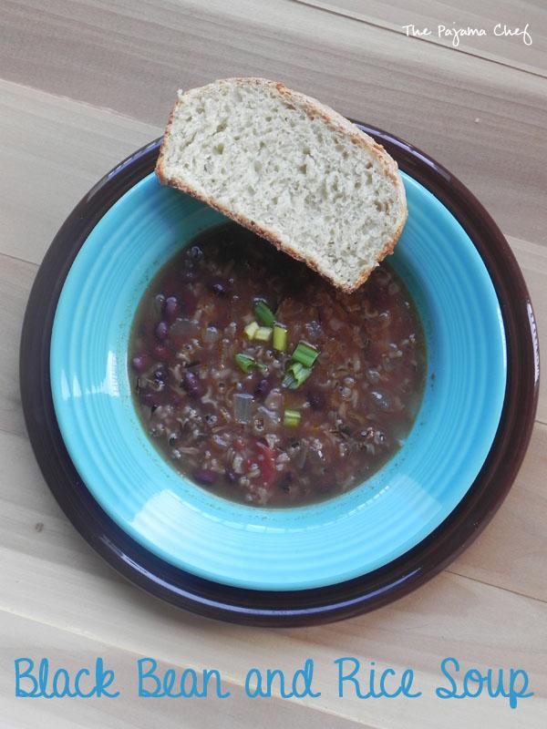 Black Bean and Rice Soup | thepajamachef.com