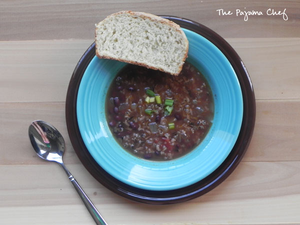 Black Bean and Rice Soup | thepajamachef.com