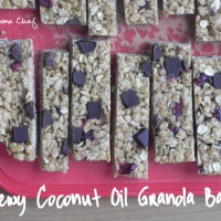 Chewy Coconut Oil Granola Bars