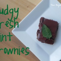 Fudgy Fresh Mint Brownies