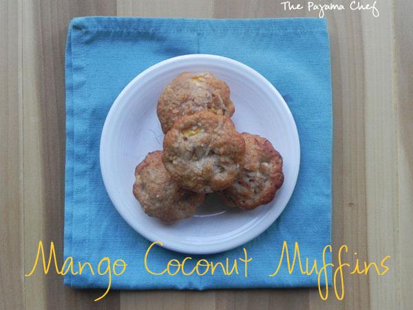Mango Coconut Muffins | thepajamachef.com