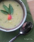 Sweet Corn Soup with Peaches | thepajamachef.com