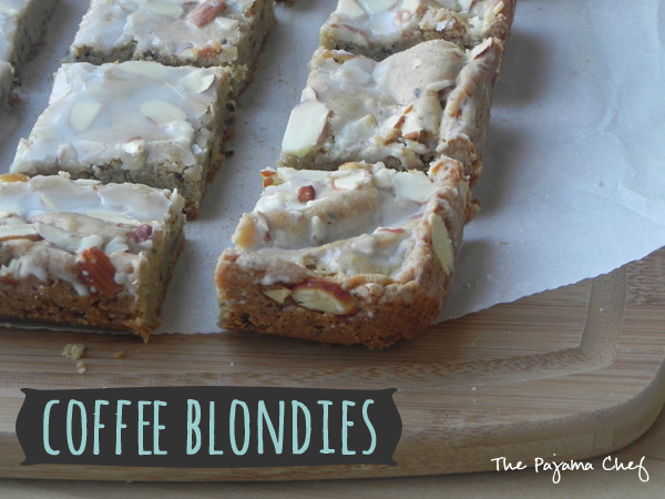 Coffee Blondies | thepajamachef.com #secretrecipeclub