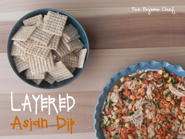 Layered Asian Dip | thepajamachef.com