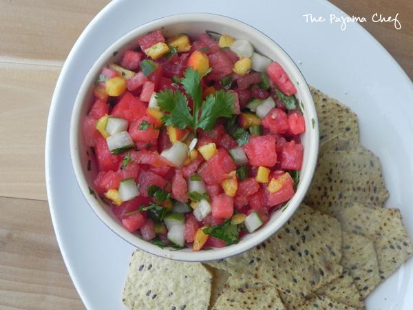 Watermelon Salsa | thepajamachef.com