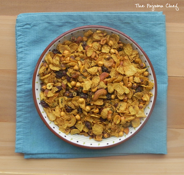 Corn Flakes Chivda   thepajamachef.com