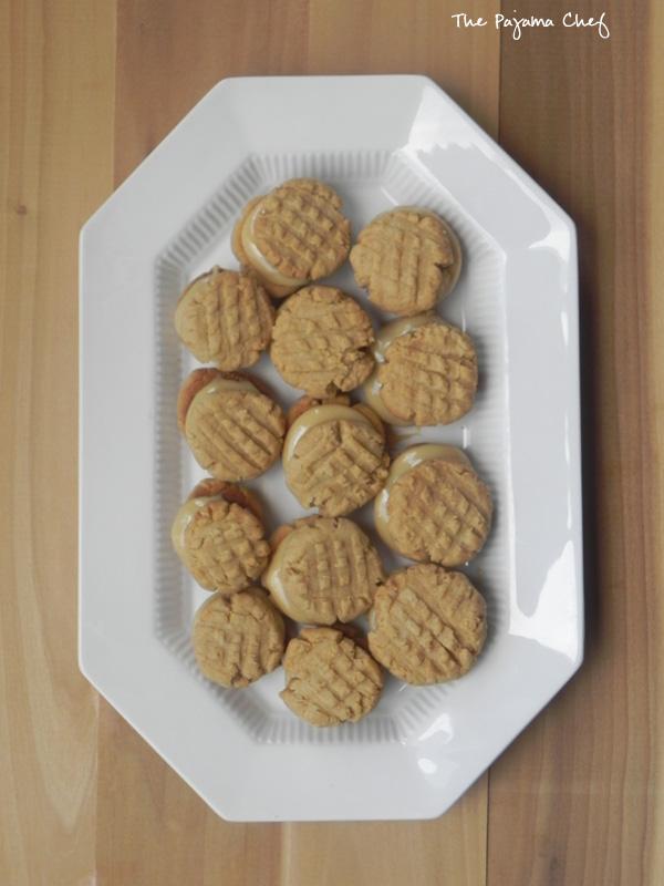 Dulce de Leche Peanut Butter Sandwich Cookies | thepajamachef.com