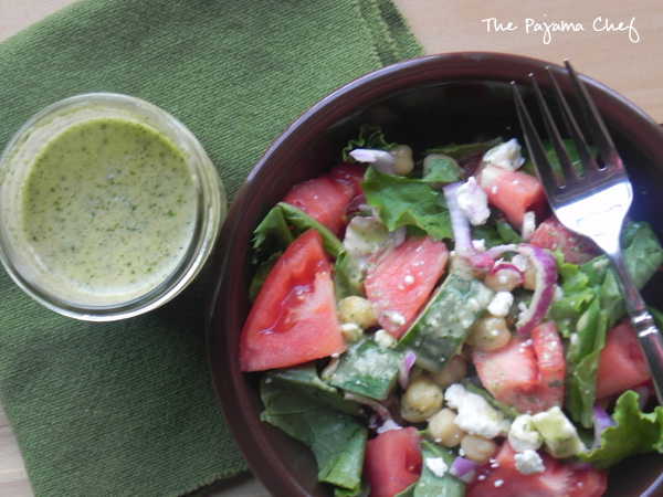 Greek Dressing | thepajamachef.com #simple #healthy #salad