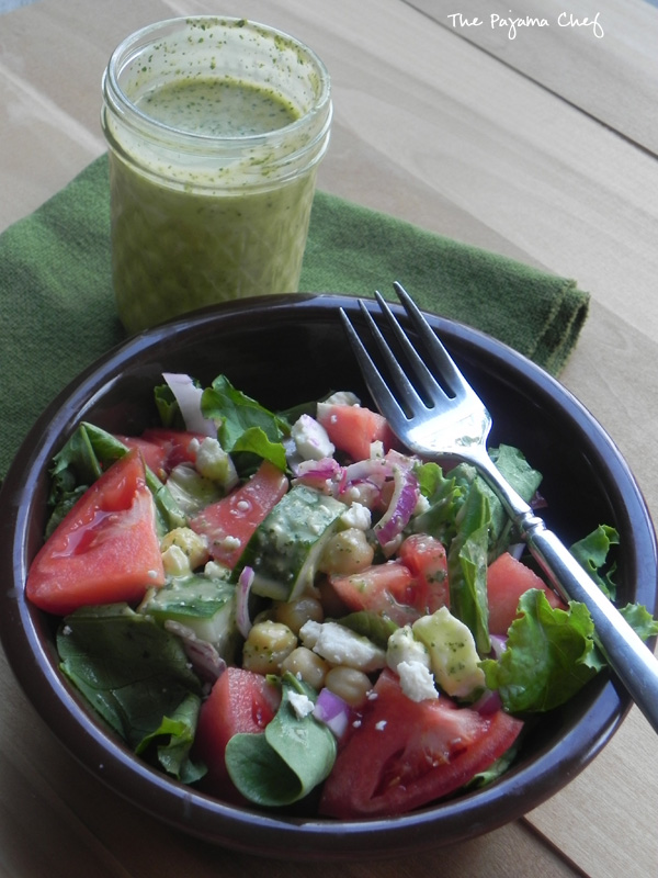 Greek Dressing | thepajamachef.com #simple #healthy #salad