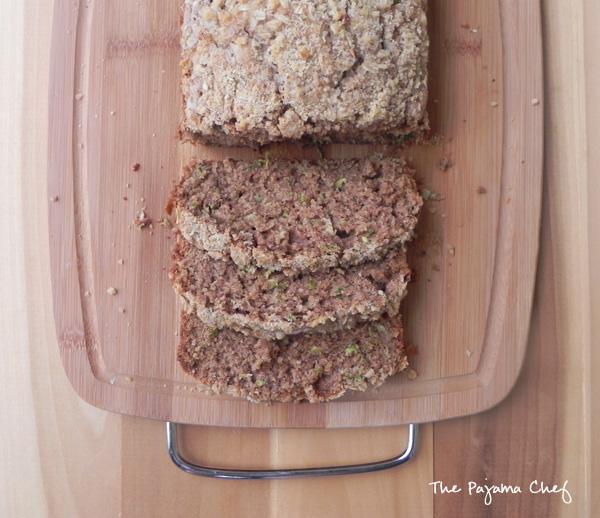 Healthy Crumb Topped Zucchini Bread | thepajamachef.com