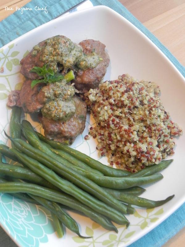 Minty Turkey Meatballs with Quinoa   thepajamachef #mysterydish