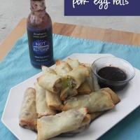 #10DaysofTailgate: Baked Blueberry Pork Egg Rolls