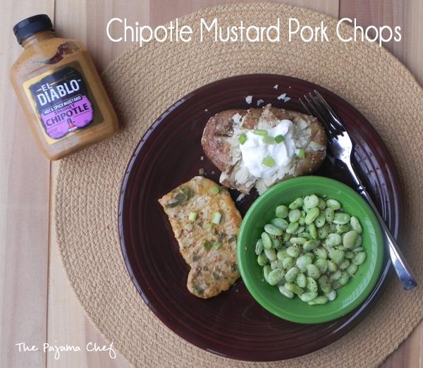 Chipotle Mustard Pork Chops | thepajamachef.com #10DaysofTailgate