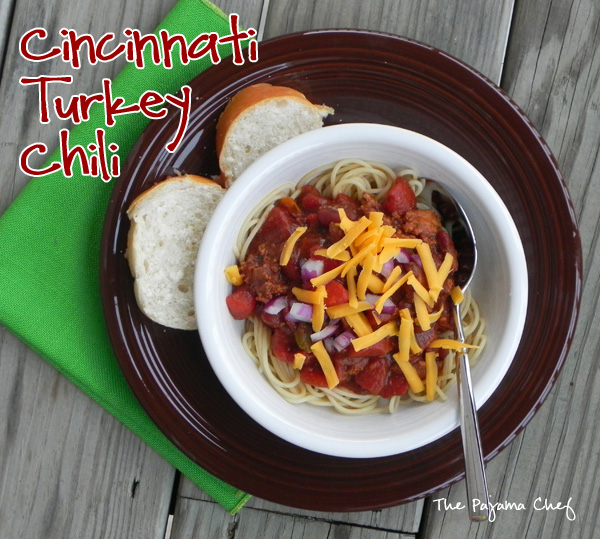Cincinnati Turkey Chili | thepajamachef.com #10DaysofTailgate