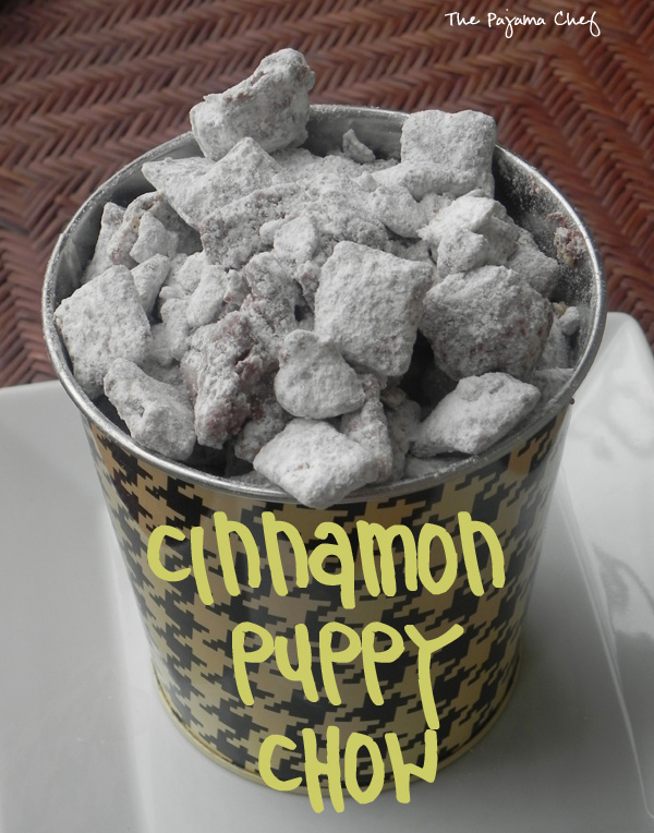 Cinnamon Puppy Chow | thepajamachef.com #10DaysofTailgate