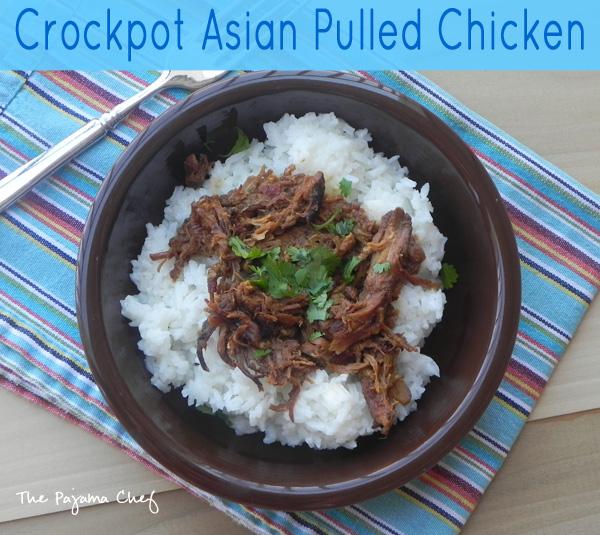 Crockpot Asian Pulled Chicken | thepajamachef.com