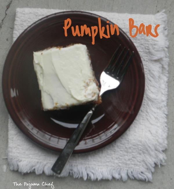 Pumpkin Bars | thepajamachef.com #10DaysofTailgate