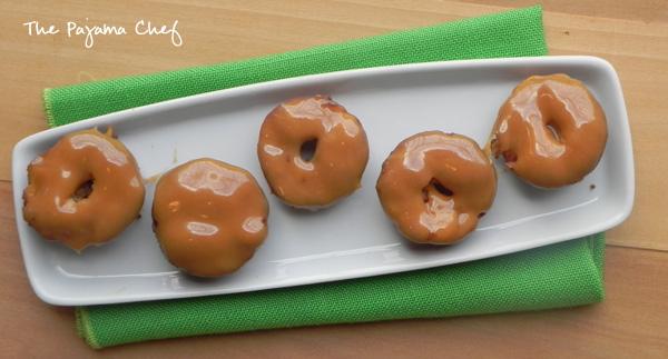 Baked Caramel Apple Mini Doughnuts | thepajamachef.com #secretrecipeclub #src