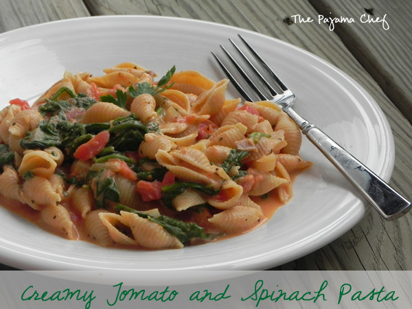 Creamy Tomato and Spinach Pasta | thepajamachef.com