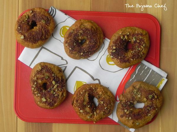Pumpkin Bagels | thepajamachef.com