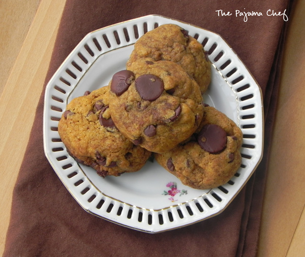 Pumpkin Chocolate Chip Cookies | thepajamachef.com #PumpkinWeek
