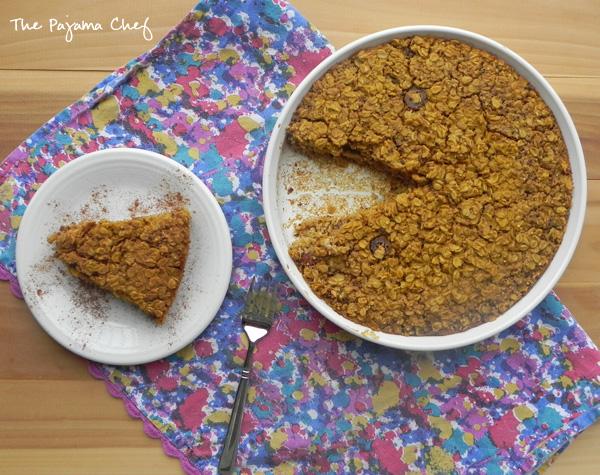Pumpkin Quinoa Oatmeal Bake | thepajamachef.com #PumpkinWeek