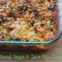 Southwest Veggie + Taco Rice Casserole
