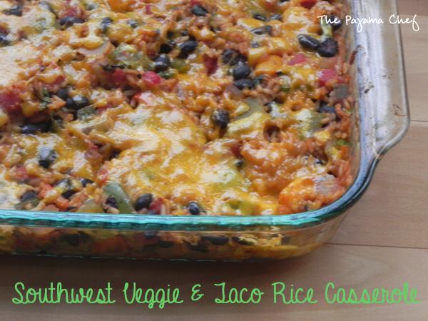 Southwest Veggie + Taco Rice Casserole | thepajamachef.com