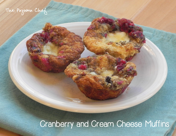 Cranberry and Cream Cheese Muffins | thepajamachef.com #secretrecipeclub