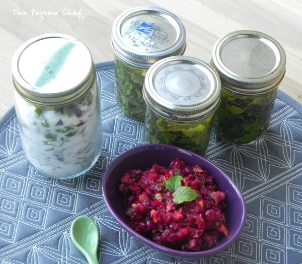Cranberry Mint Relish + Ideas for Preserving Fresh Mint | thepajamachef.com
