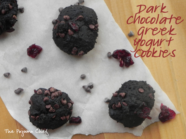 Dark Chocolate Greek Yogurt Cookies | thepajamachef.com