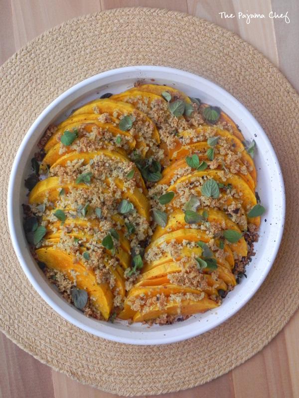 Parmesan Butternut Squash Au Gratin | thepajamachef.com #Thanksgiving