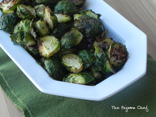 Ginger-Rosemary Roasted Brussels Sprouts | thepajamachef.com