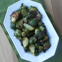 Ginger-Rosemary Roasted Brussels Sprouts
