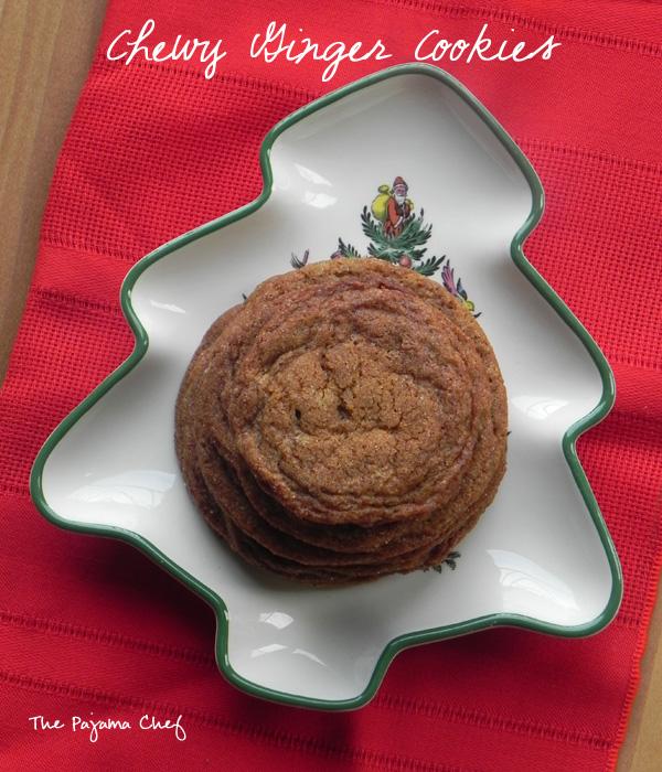 Chewy Ginger Cookies | thepajamachef.com