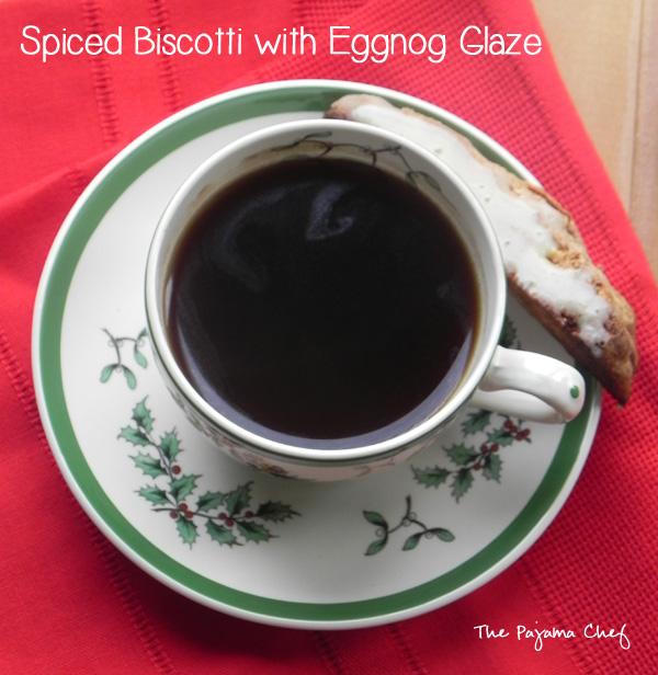 Spiced Biscotti with Eggnog Glaze | thepajamachef.com #mysterydish