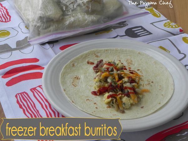 Freezer Breakfast Burritos | thepajamachef.com
