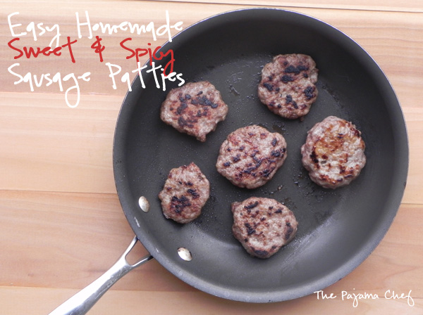 Homemade Turkey Sausage Patties | thepajamachef.com
