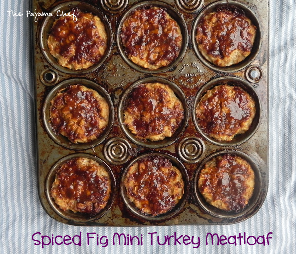 Spiced Fig Mini Turkey Meatloaf | thepajamachef.com #TripleSBites