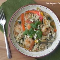 Mystery Dish: Sesame Ginger Shrimp Ramen Noodles