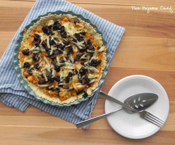 Butternut Squash and Mushroom Tart | thepajamachef.com