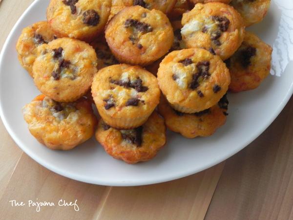 Cheesy Taco Muffins | thepajamachef.com